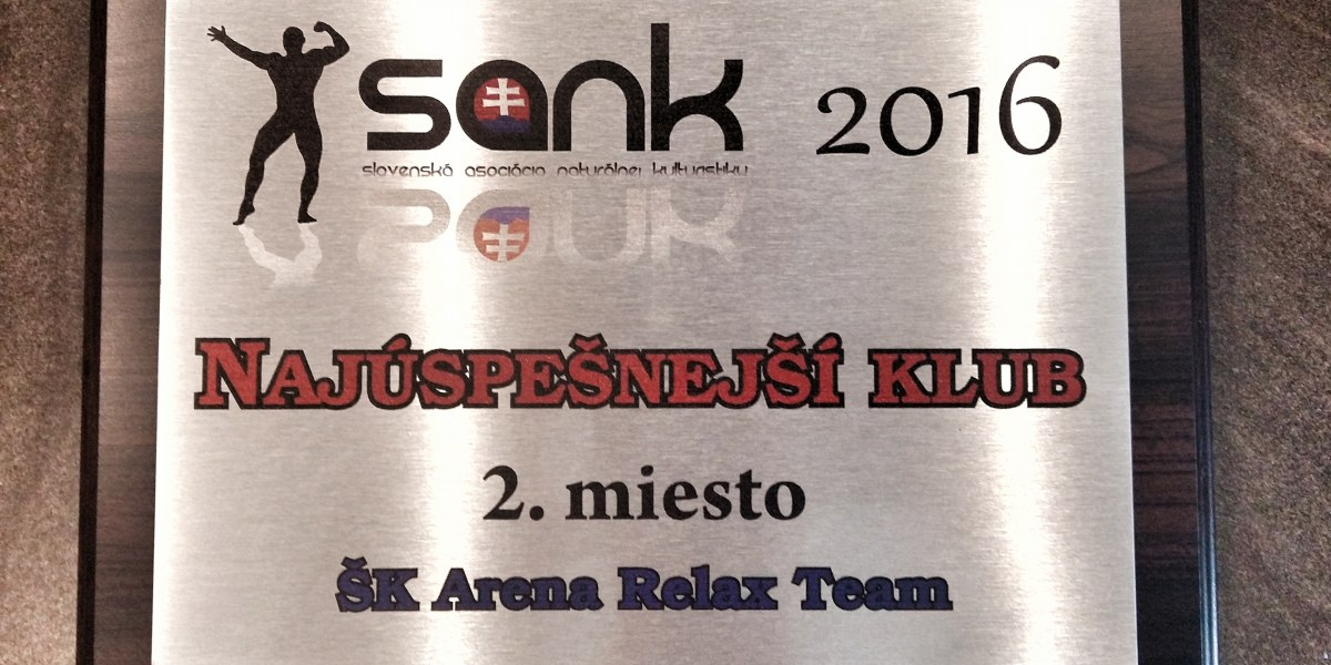 Ocenenia športového klubu Arena Relax Team