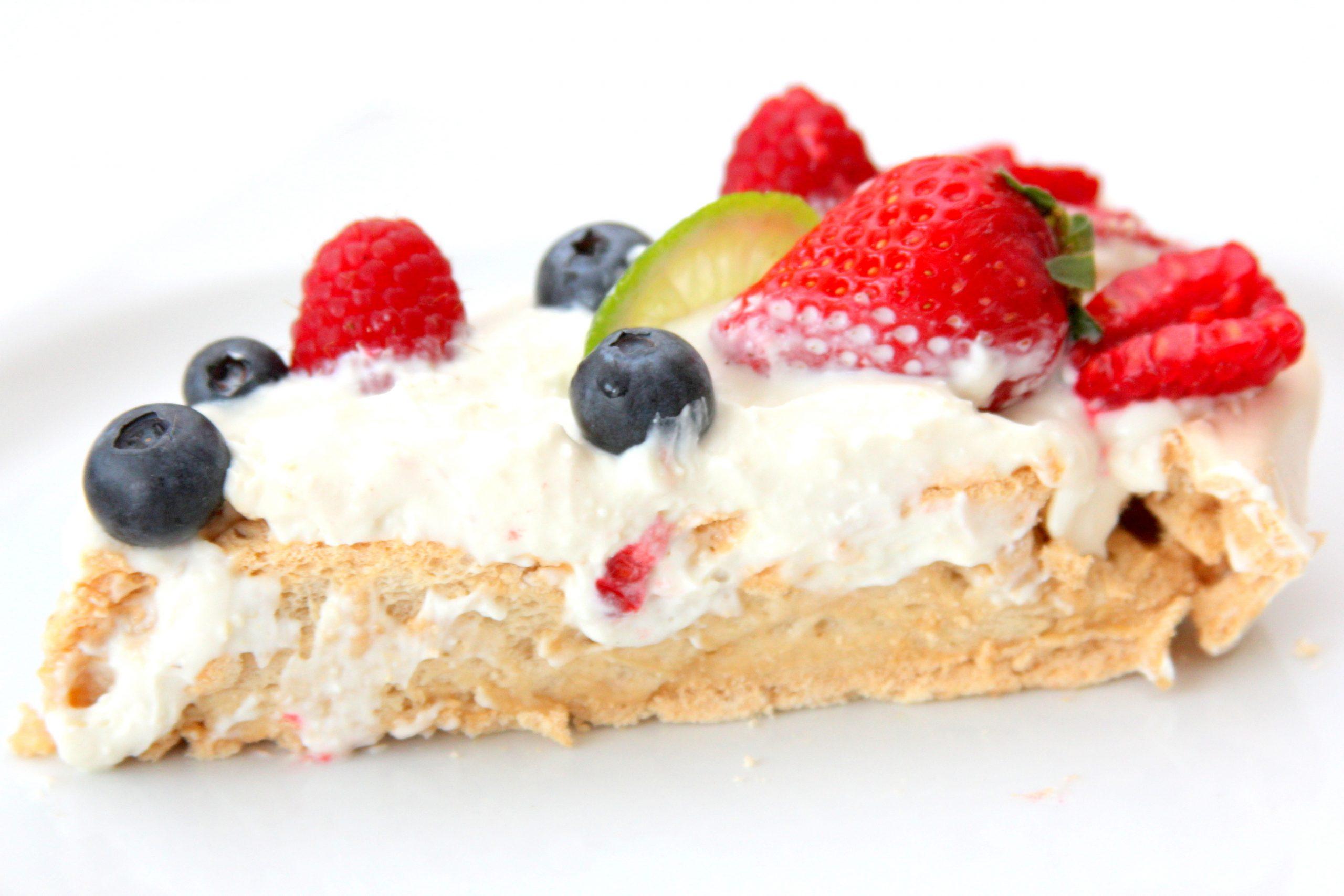 Pavlova fit torta