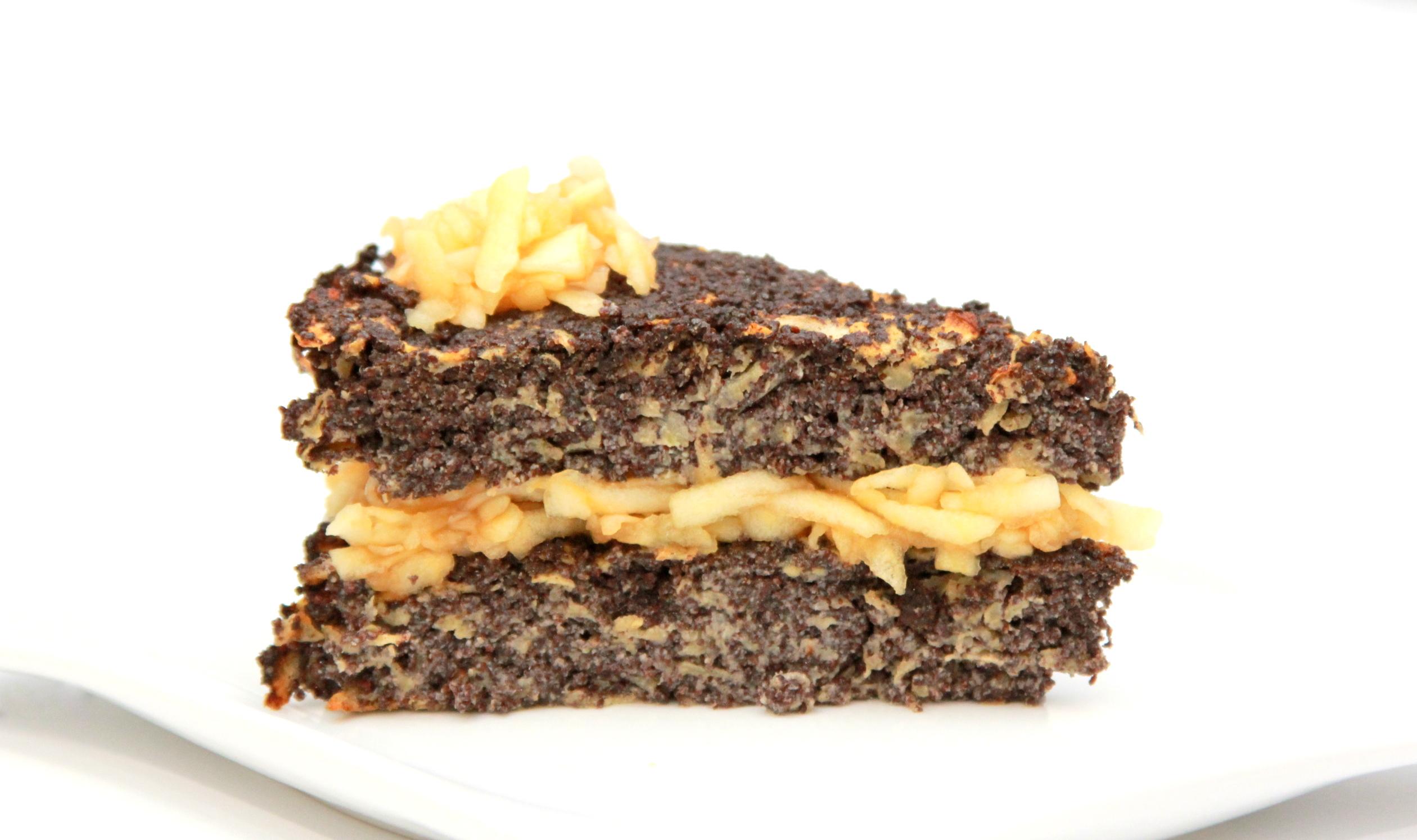Jablkovo maková torta bez múky