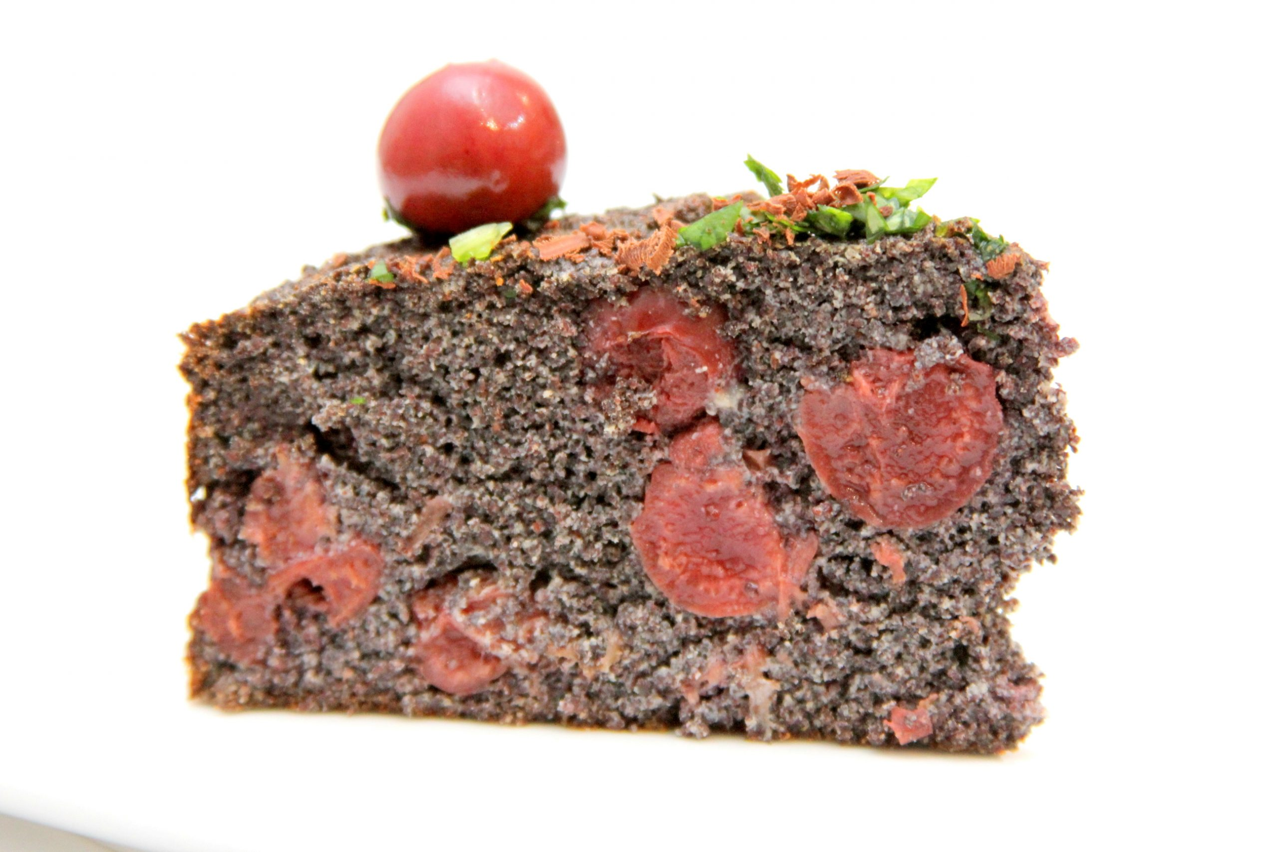 Višňovo maková torta bez múky