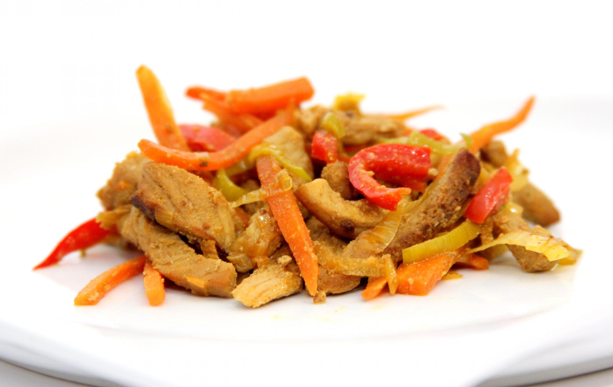 Pečené rezančeky z mangalice na zelenine